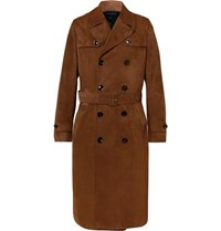 Tom Ford Suede Trench Coat Tan