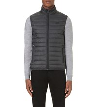 Armani Jeans Quilted Shell Gilet Grigio