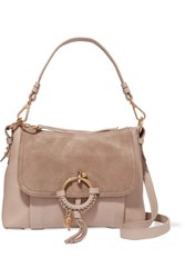 See By Chloe Joan Small Textured Leather And Suede Shoulder Bag Blush