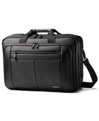 Samsonite Classic Three Gusset Toploader Laptop Briefcase Black
