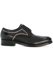 Dsquared2 Studded Derby Shoes Calf Leather Leather Black