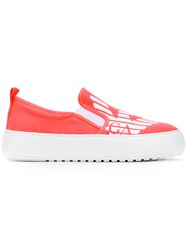 Emporio Armani Ea7 New Master Sneakers Women Tactel Rubber 36 Pink Purple