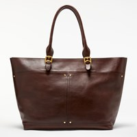 John Lewis Aurora Large Leather Tote Bag Tan