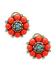 Heidi Daus Blooming Fabulous Crystal Stud Earrings No Color