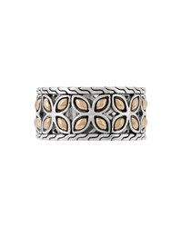 John Hardy Kawung 18K Gold And Sterling Silver Band Ring Size 7