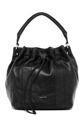 Karen Millen Soft Duffle Collection Leather Bucket Bag Black