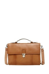 Cole Haan Double Gusset Briefcase Brown