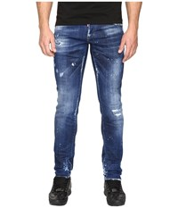 Dsquared Slim White Hi Light Jeans In Blue Blue Men's Jeans