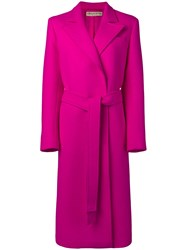 Emilio Pucci Double Face Wool Long Coat Pink