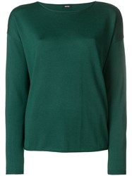 Aspesi Boat Neck Jumper Green