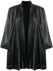 Gianfranco Ferre Vintage Oversized Open Coat Black