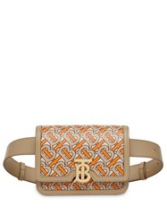Burberry Belted Monogram Print Leather Tb Bag Orange