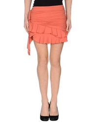 Nolita Mini Skirts Rust