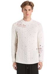 Damir Doma Destroyed Wool Knit Sweater