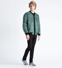 A Question Of Green Black Marble Reversible Marbleous Bomber Jacket