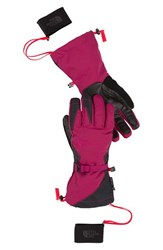 The North Face Women's 'Montana E Tip' Waterproof Tech Compatible Gloves Dramatic Plum