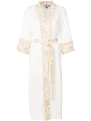 Murmur Bliss Trench Coat White