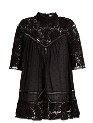 Zimmermann Caravan Embroidered Cotton Top Black