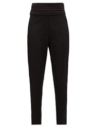 Balmain Satin Trimmed Wool Tuxedo Trousers Black