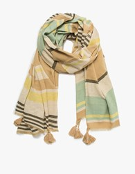 A Peace Treaty Mangolo Sand Striped Scarf