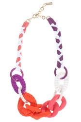 Missoni Fabric Beaded Necklace