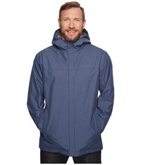 Columbia Big Tall Diablo Creek Rain Jacket Zinc Men's Coat Blue