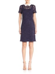 Michael Michael Kors Collared Lace T Shirt Dress New Navy