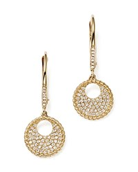 Kc Designs Diamond Pave Drop Earrings In 14K Yellow Gold .30 Ct. T.W. White Gold
