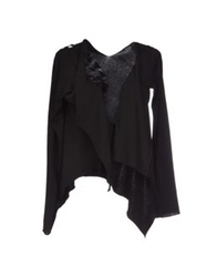 Oblique Cardigans Black