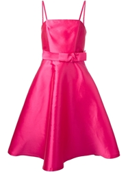 P.A.R.O.S.H. Duchess Belted Dress Pink And Purple