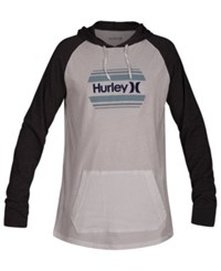 Hurley One And Only Hooded Sweatshirt White Black Heather