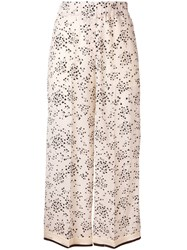 Alysi Small Floral Print Trousers Neutrals