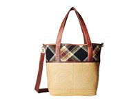 Pendleton Manly Tote Acadia Plaid Tote Handbags Beige