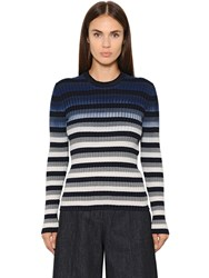 Maison Martin Margiela Striped Cotton Rib Knit Sweater