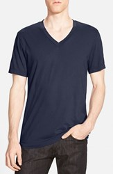 James Perse Men's Short Sleeve V Neck T Shirt Space