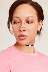 Urban Outfitters Ella Enamel Charm Choker Necklace White