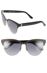 Boss 57Mm Retro Sunglasses Black Gold