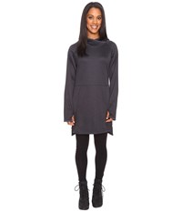 Exofficio Tatra Hooded Dress Carbon Women's Long Sleeve Pullover Gray