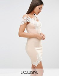 Lipsy Michelle Keegan Loves Lace Detail Cami Mini Dress Nude Pink