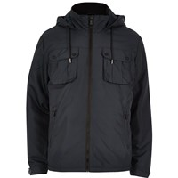 Only And Sons River Island Mens Navy Light Hooded Jacket