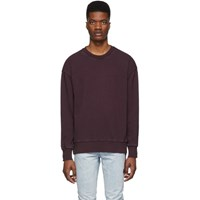 Ksubi Burgundy Seeing Lines Sweatshirt