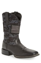 Ariat Sport Patriot Cowboy Boot Black Black Leather