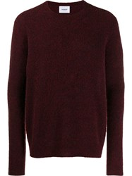 Dondup Crew Neck Terry Sweater Red
