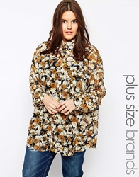 Alice And You Long Sleeve Floral Shirt Khakivtgfloral