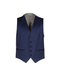 Paoloni Suits And Jackets Waistcoats Men Dark Blue
