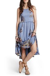 Women's Free People 'Season In The Sun' Floral Print Slipdress Blue Combo