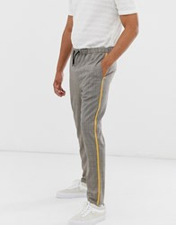 Brooklyn Supply Co. Co Trousers In Check Brown