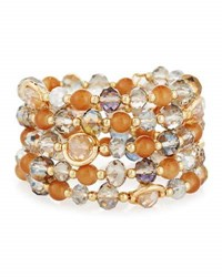 Emily And Ashley Multihued Crystal Wrap Bracelet Gold