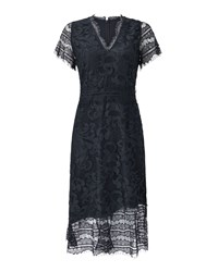 Jigsaw Lace Overlay Dress Blue
