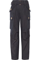 Marc Jacobs Wool Twill Cargo Pants Blue